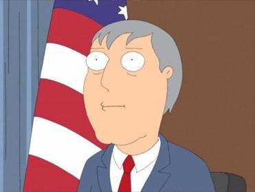 "Mayor Adam West on ""Family Guy."""